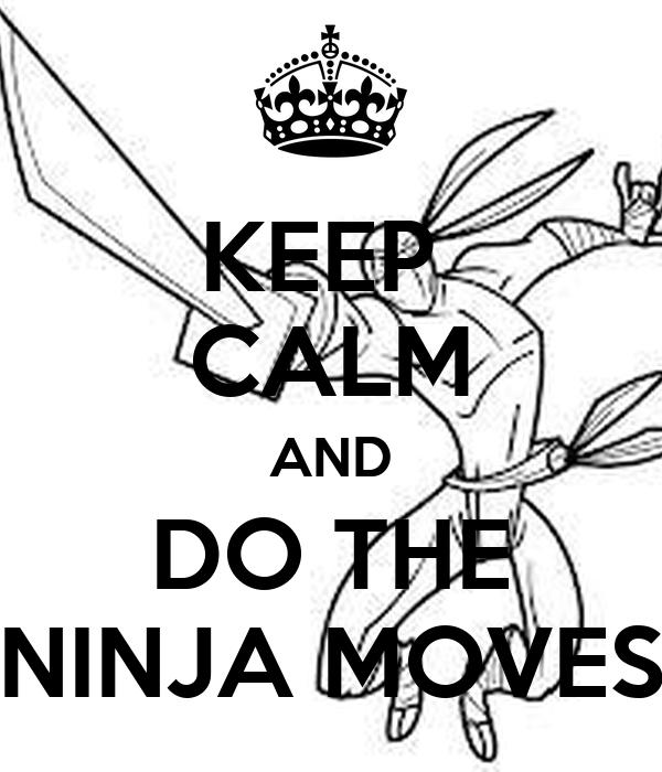 KEEP CALM AND DO THE NINJA MOVES Poster | ninja | Keep Calm-o-Matic