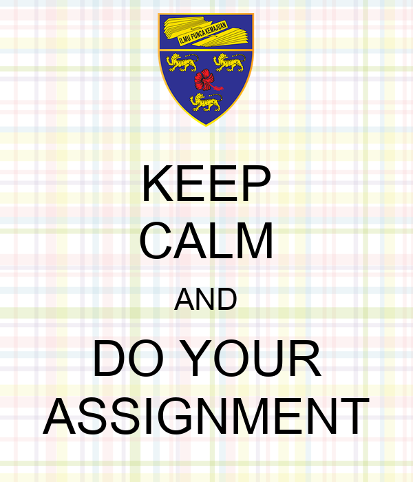 Do your assignment