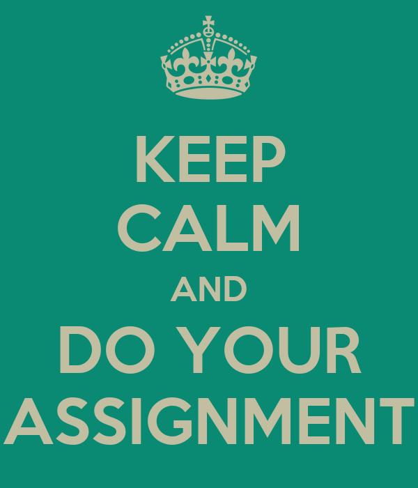 Do assignment