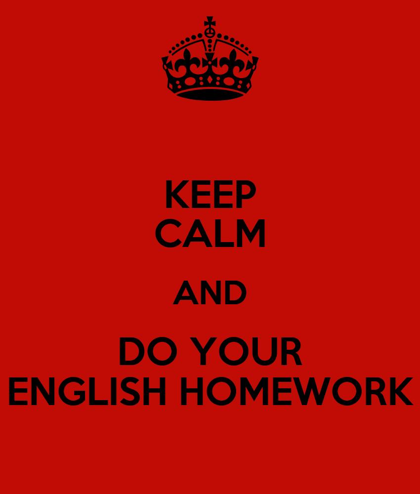 Should i do my english homework