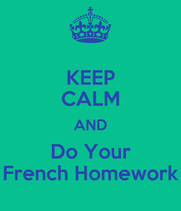 do my french homework for me