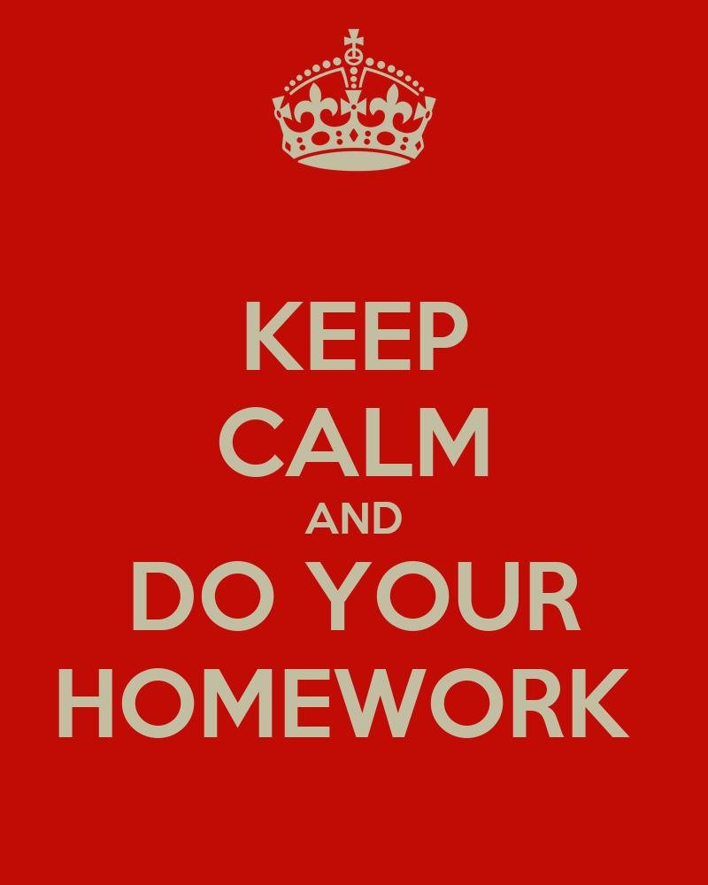 Where to do your homework