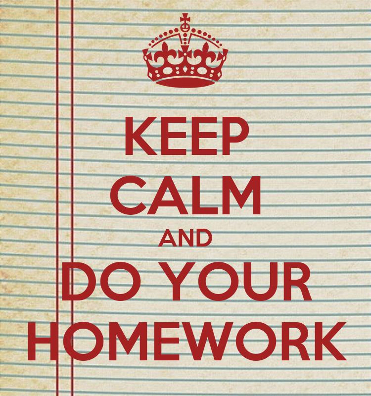 I will do my homework