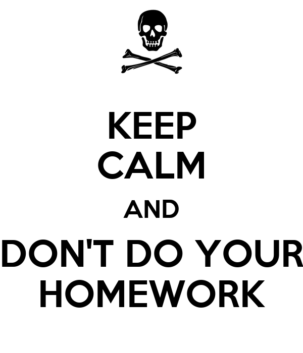 Students who dont do homework