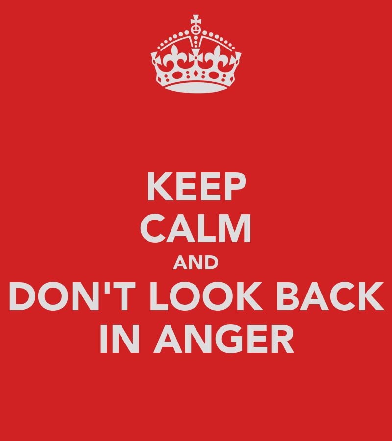 keep calm and don 39 t look back in anger poster ire keep calm o matic. Black Bedroom Furniture Sets. Home Design Ideas