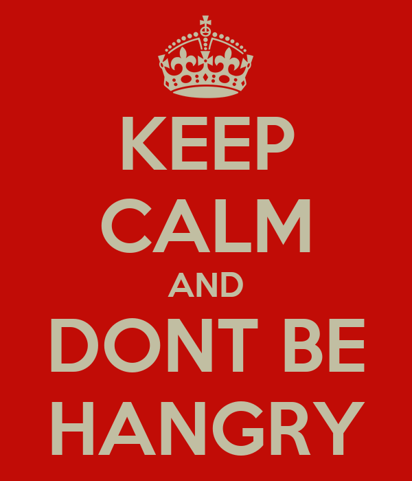 """British sign: """"Keep Calm and Don't Be Hangry"""""""