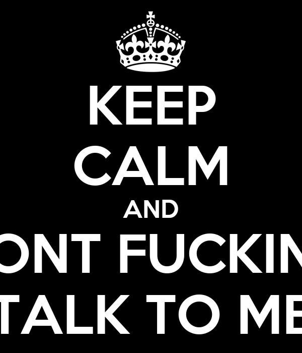 Talk to fuck