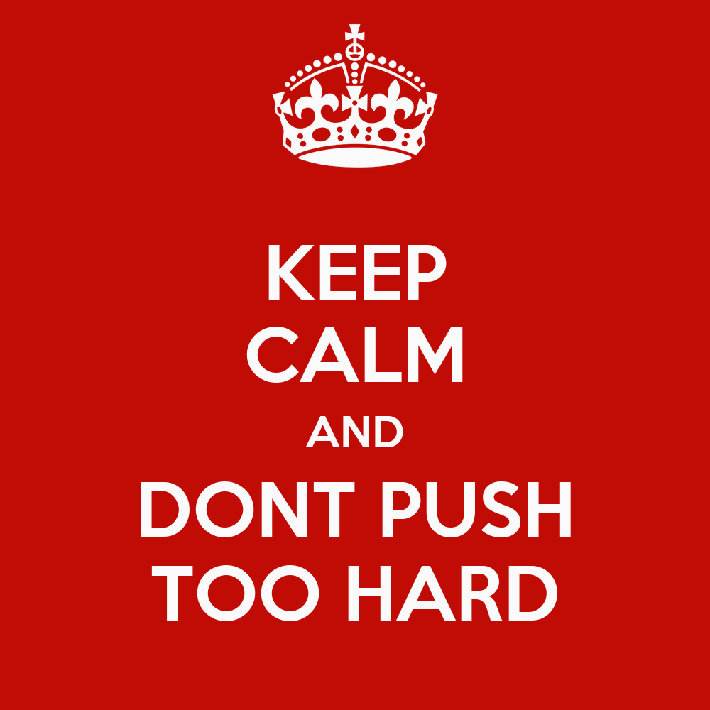 pushing too hard However, if you push yourself too hard, you may end up pushing your muscles beyond what they are capable of doing it doesn't matter if you've worked out hard for the last 10 years--rhabdomyolysis can set in after just a single workout where you push beyond what your body can do.
