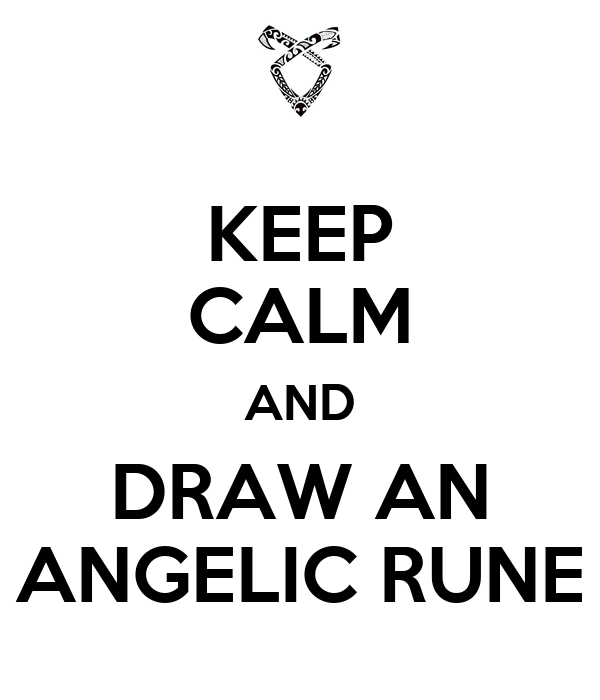 Drawing Angelic Rune