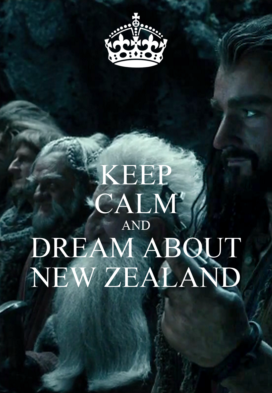 KEEP CALM AND DREAM ABOUT NEW ZEALAND Poster