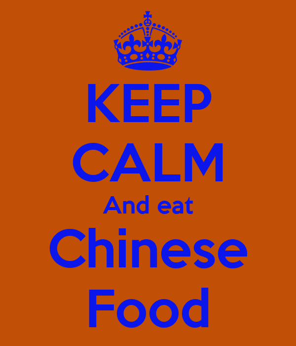 Keep calm and eat chinese food poster luke keep calm o for Academy of oriental cuisine