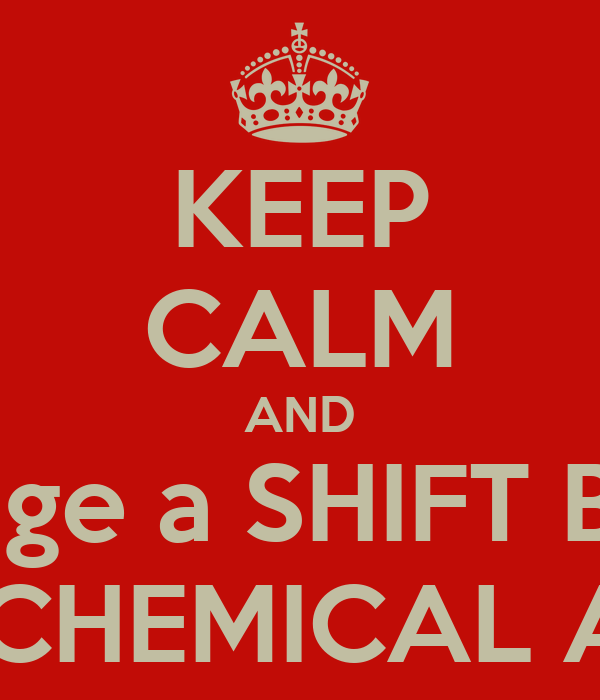 KEEP CALM AND engage a SHIFT BOSS while ua CHEMICAL ANALYST Poster ...