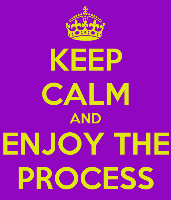 Resultado de imagen para be calm and enjoy the process