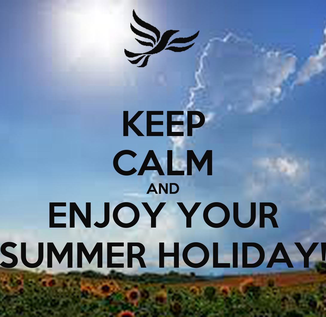 KEEP CALM AND ENJOY YOUR SUMMER HOLIDAY! Poster  S.M  Keep Calm-o-Matic