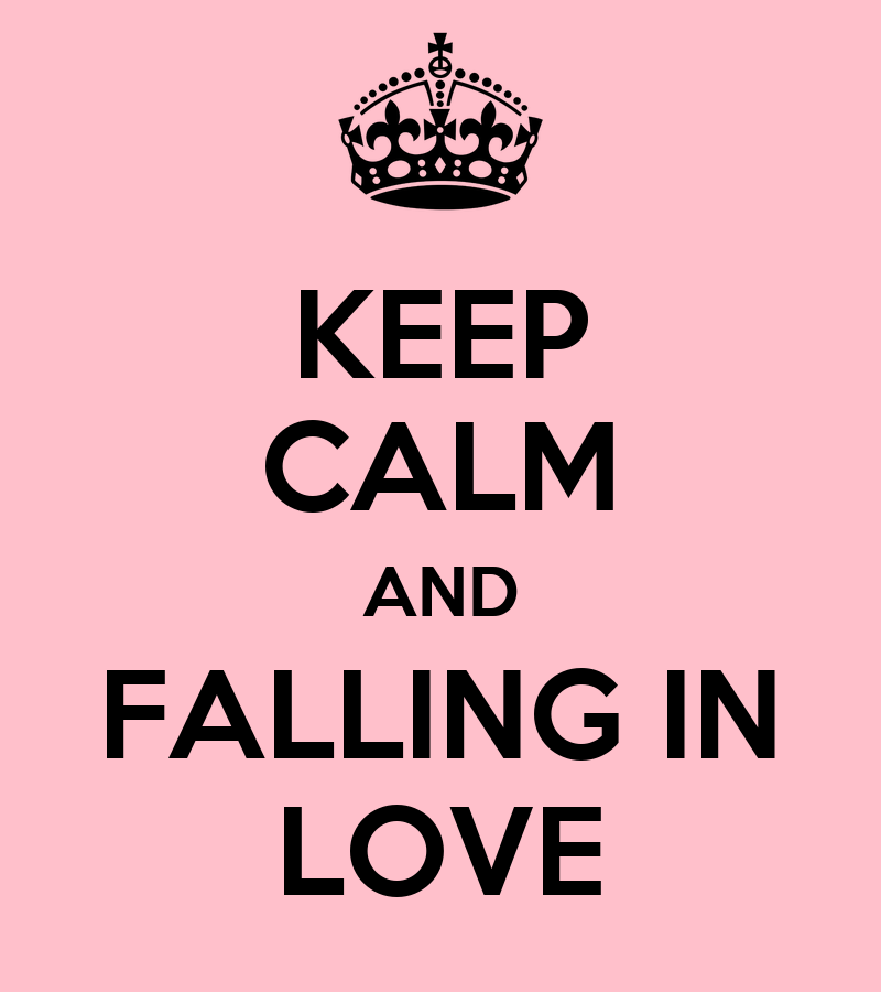 keep calm and falling in love poster martina keep calm o matic. Black Bedroom Furniture Sets. Home Design Ideas