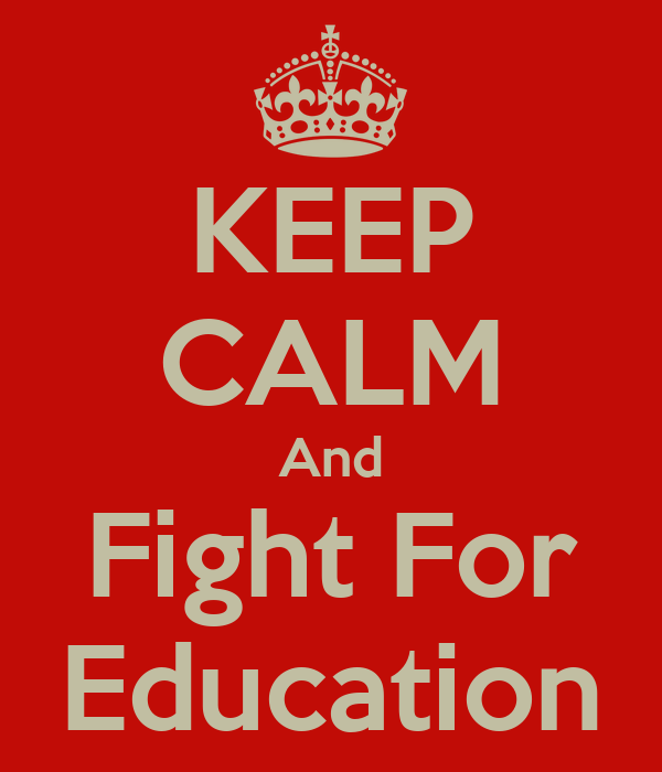 Image result for the fight for education