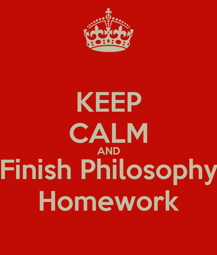 Philosophy logic homework help
