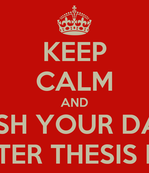 Thesis master now