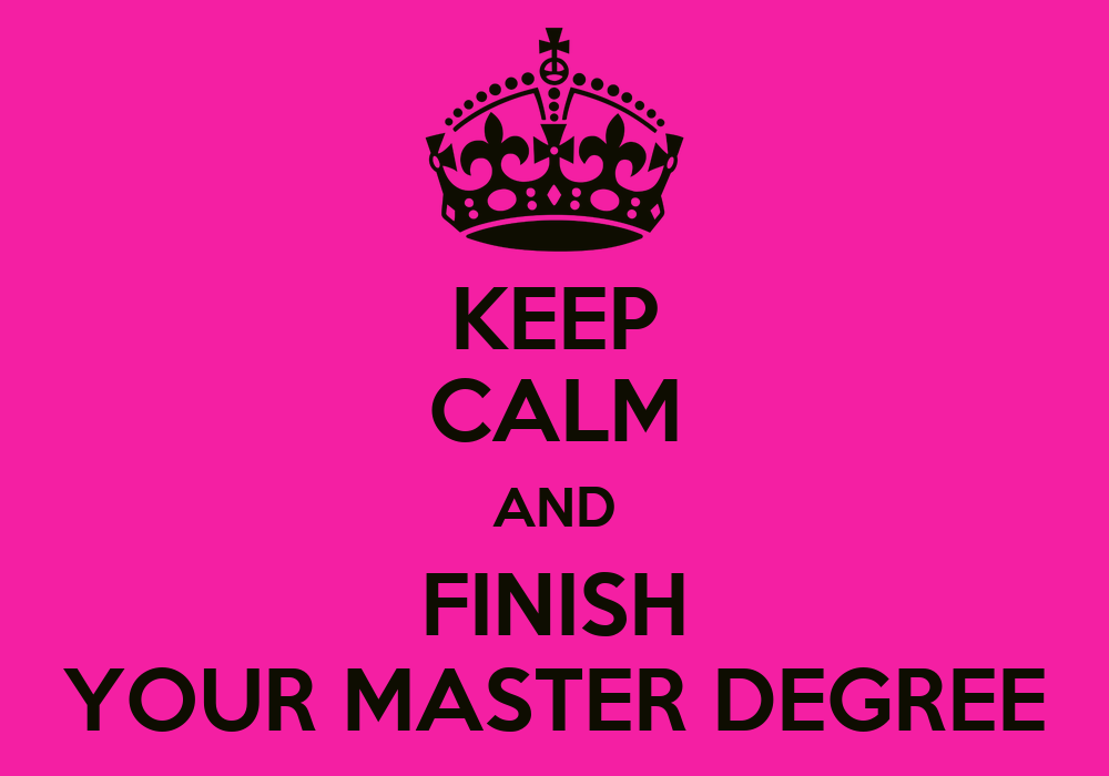Obtaining a masters degree