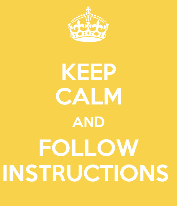 how to follow instructions