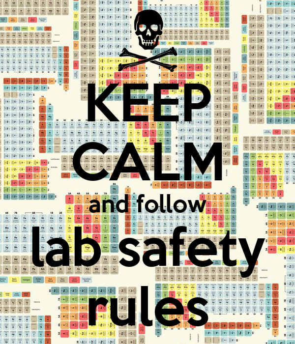 Keep calm and follow lab safety rules poster syn12345 keep calm o