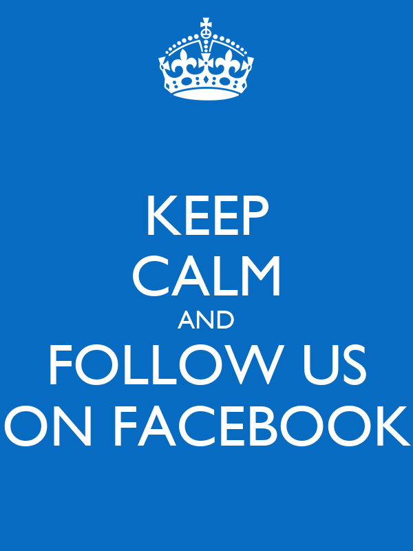 how to write follow us on facebook