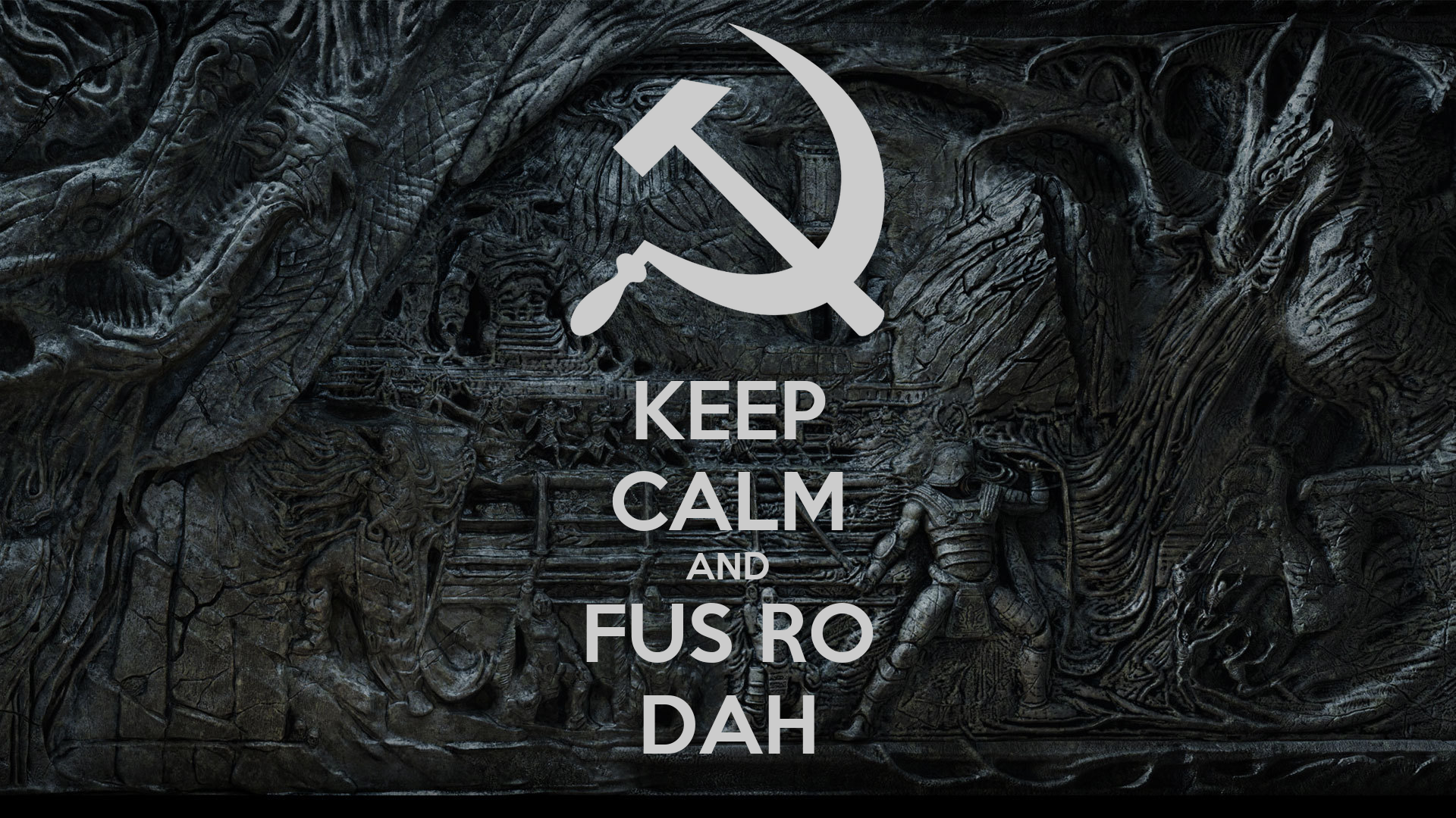 Keep Calm And Fus Ro Dah Poster