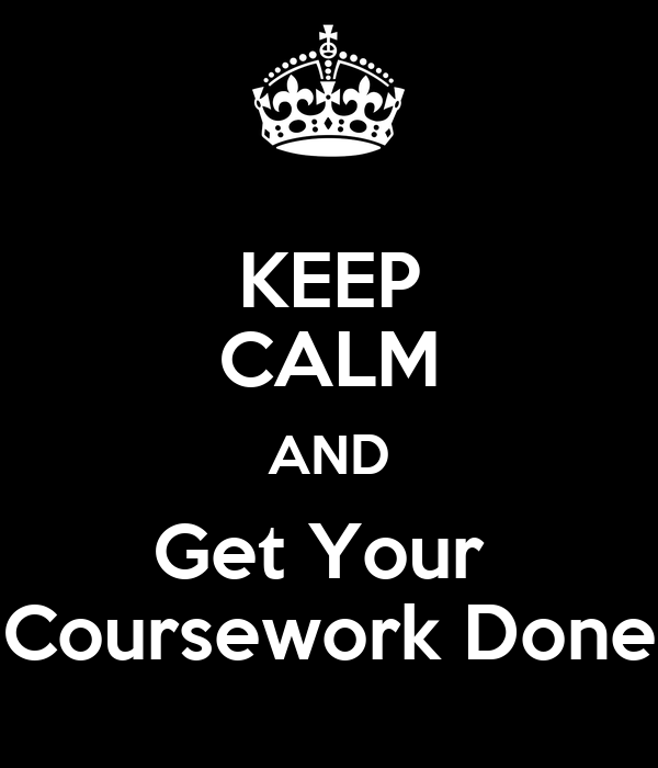 Get your coursework done