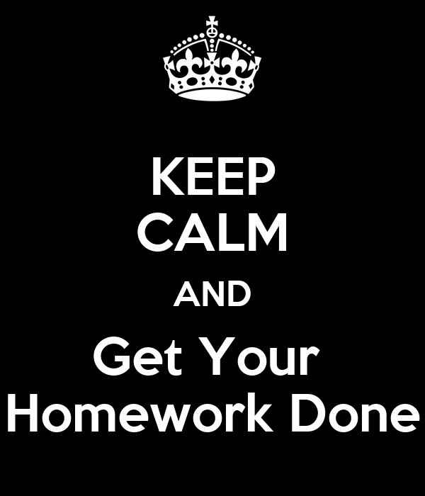 Get your homework done