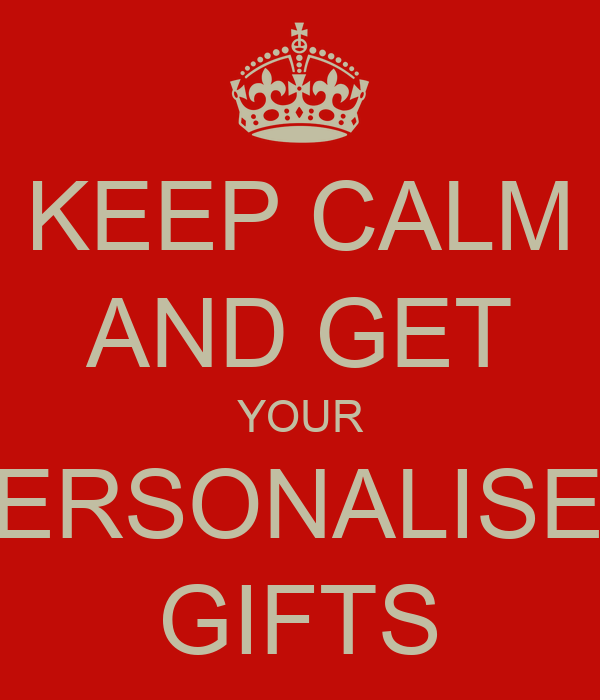 PERSONALISED GIFTS Poster