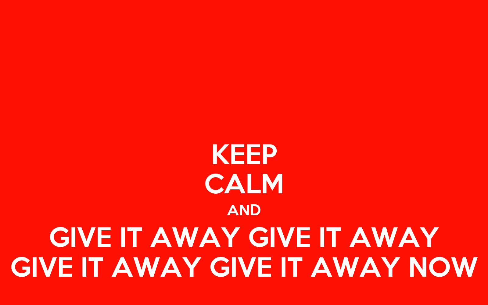 Give It Away
