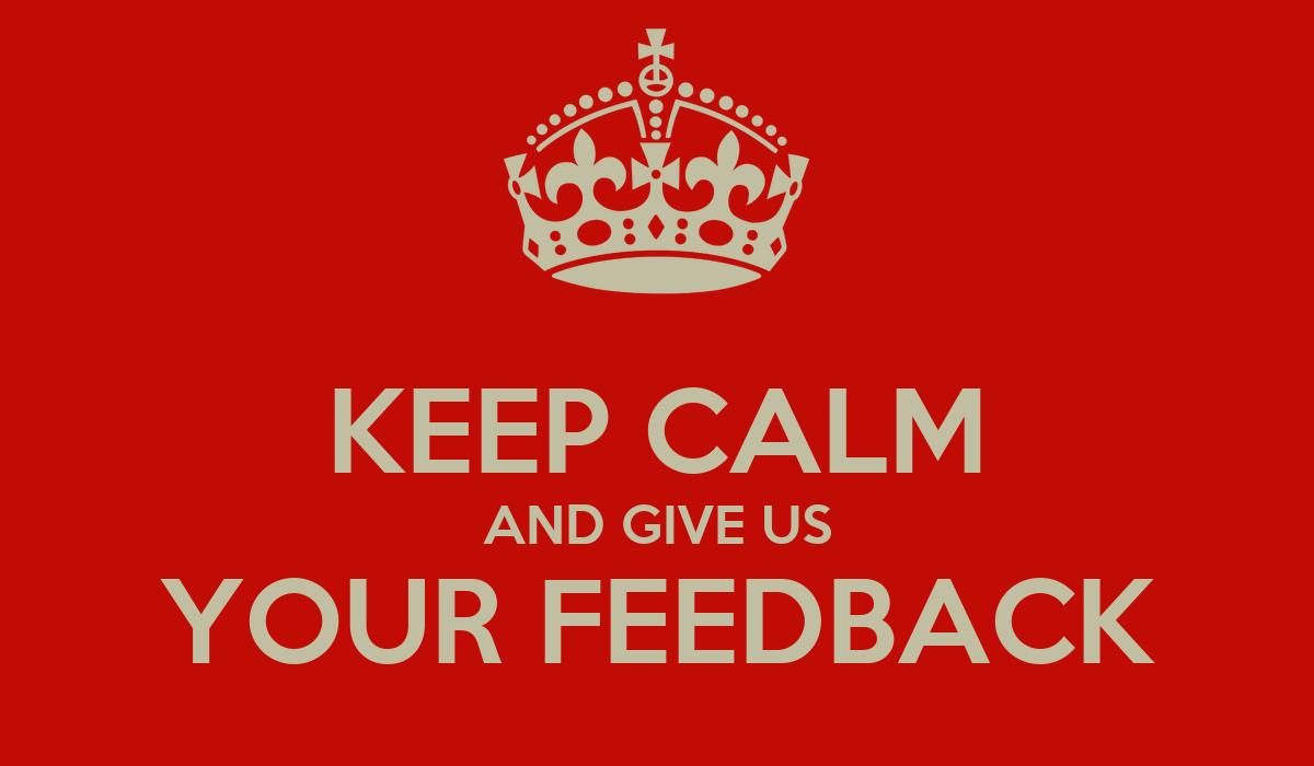 give your feedback
