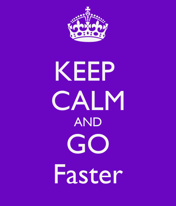 how to go faster x3