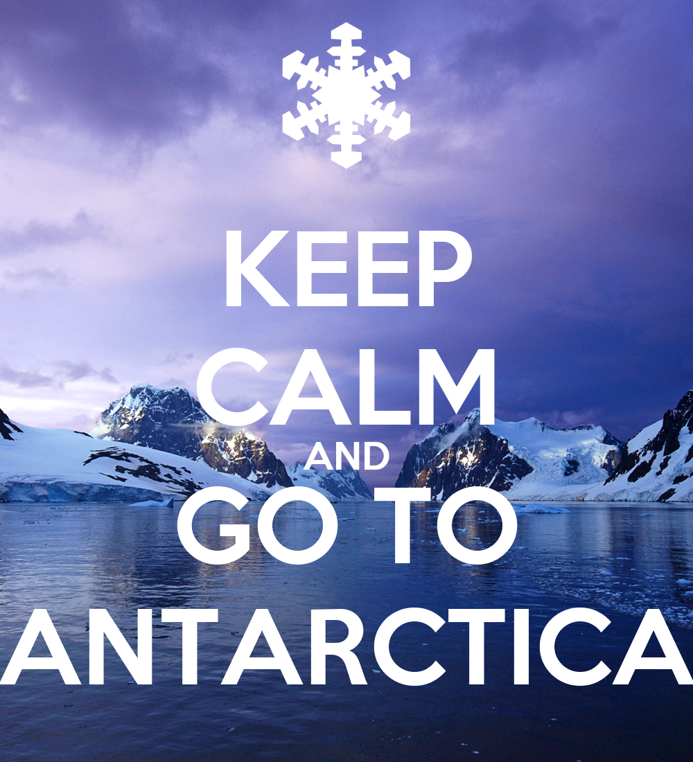 keep calm and go to antarctica poster evelinvelinova