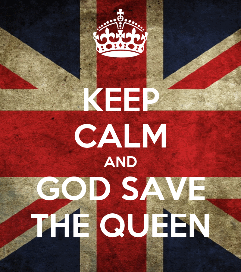 keep calm and god save the queen poster kim keep calm o matic. Black Bedroom Furniture Sets. Home Design Ideas