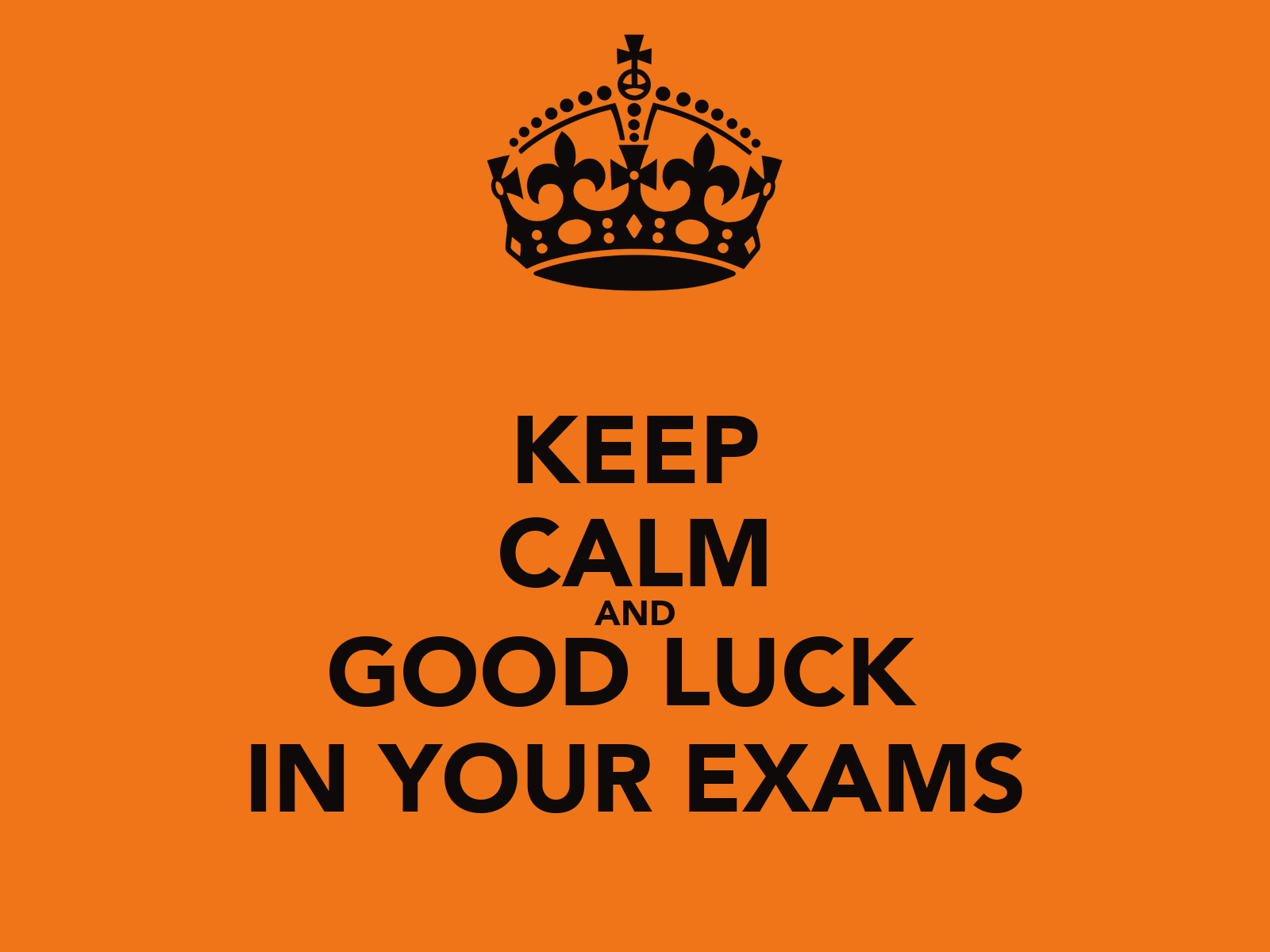keeping your cool in exams It's quite possible to do well in exams, and still pursue a rich, fulfilled existence but it's not the end of the world if you fail, far from it, and so go easy on the anxiety all in all, to handle the pressure, it's good to keep things in perspective, and do the little things well.