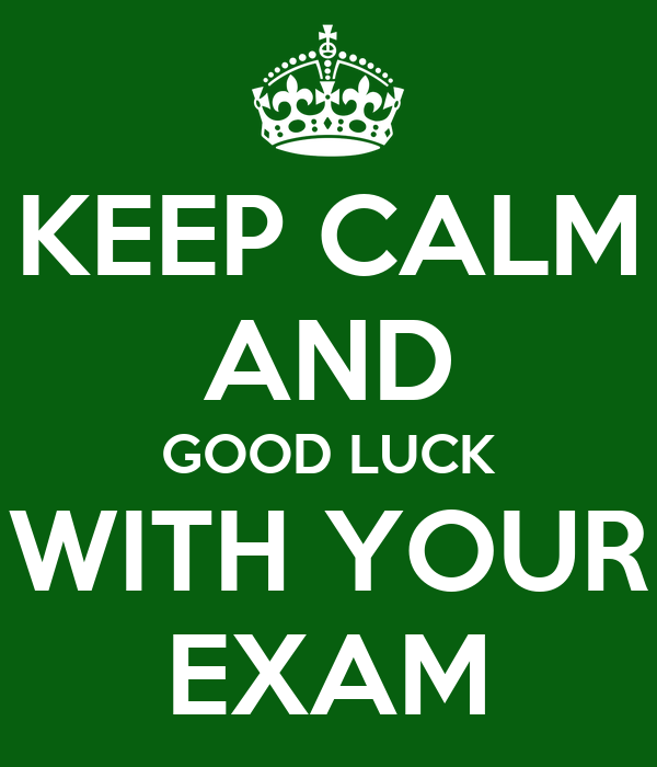 Exambest: KEEP CALM AND GOOD LUCK WITH YOUR EXAM Poster