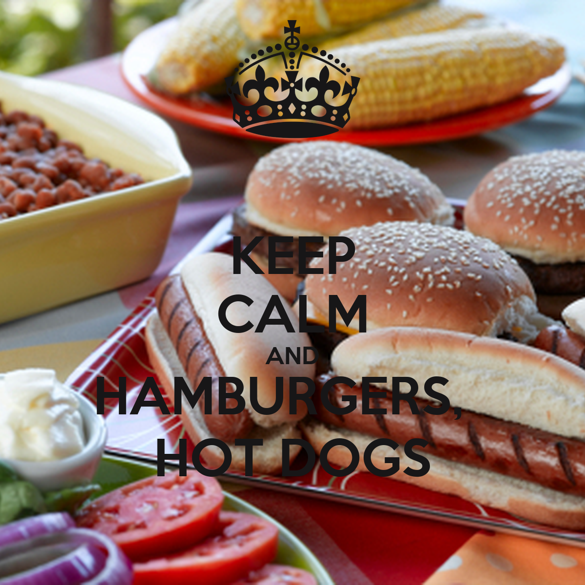 keep calm and hamburgers hot dogs poster daishka keep calm o matic. Black Bedroom Furniture Sets. Home Design Ideas