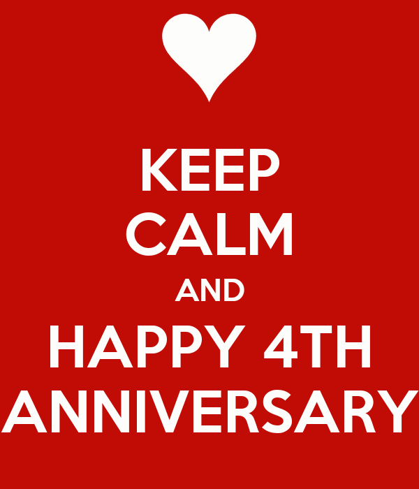 Keep calm and happy th anniversary poster tan