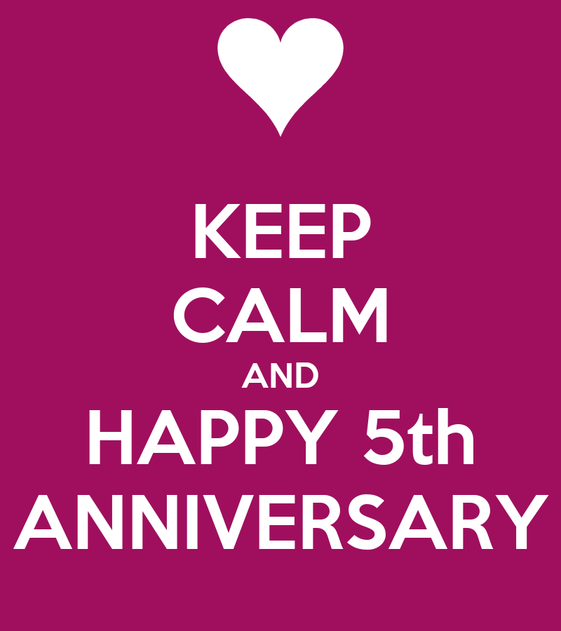 Keep calm and happy th anniversary poster alicia