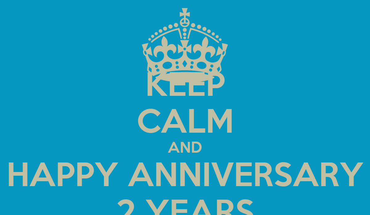Keep calm and happy anniversary years poster