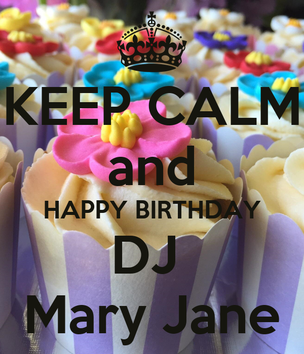 Happy Birthday Mary Jane Cake