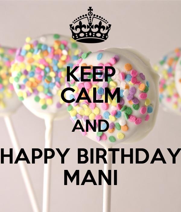 Happy Birthday Cake For Mani