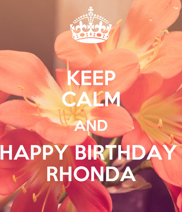 Image result for happy birthday rhonda pictures