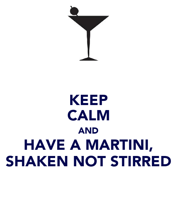 "Martinis play an important role in the life of James Bond. They're nearly as famous as his fast cars and the Bond girls. But it's that phrase, ""shaken, not stirred,"" that many of us have tried to mimic with just the right amount of swagger when ordering a cocktail."