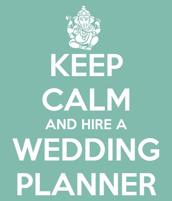 keep calm and hire a wedding planner poster lia keep
