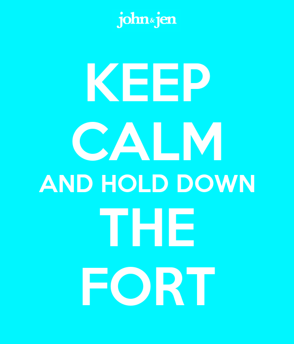 Back at Cleveland Clinic today and tomorrow Keep-calm-and-hold-down-the-fort