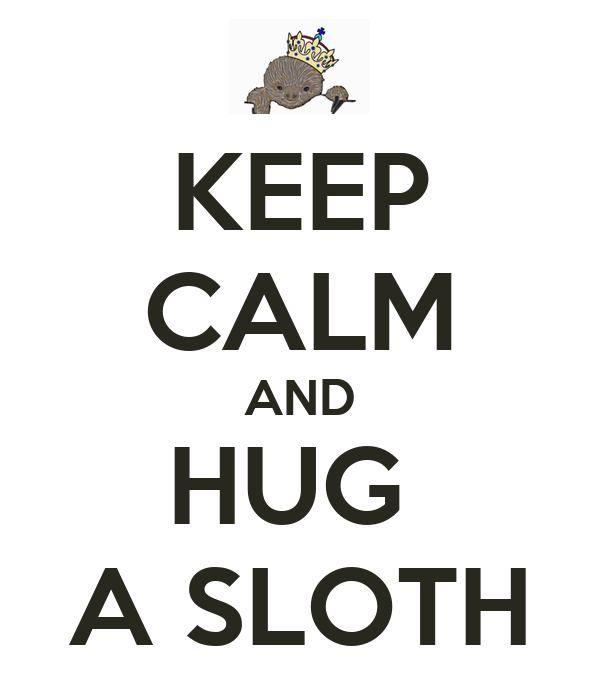 Keep Calm And Hug A Sloth Poster Elyse Keep Calm O Matic