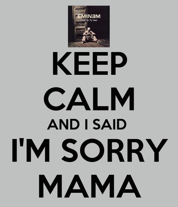 eminem sorry mama: