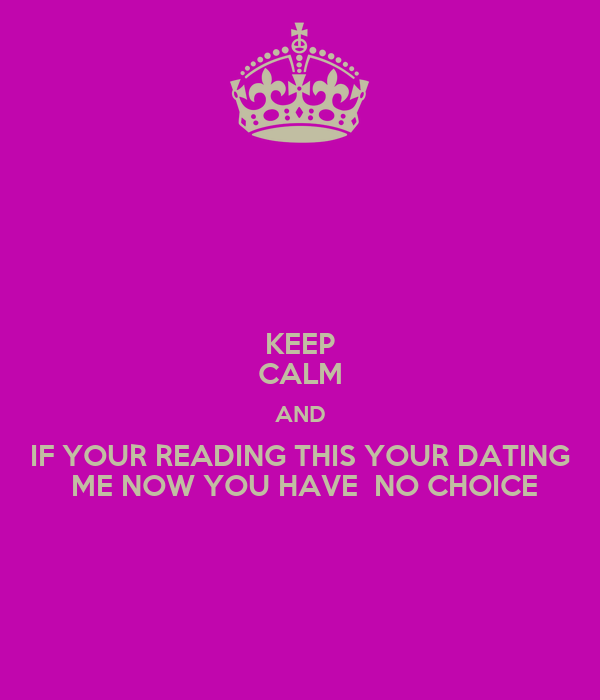 If you read this we re dating now no choice - Makoto